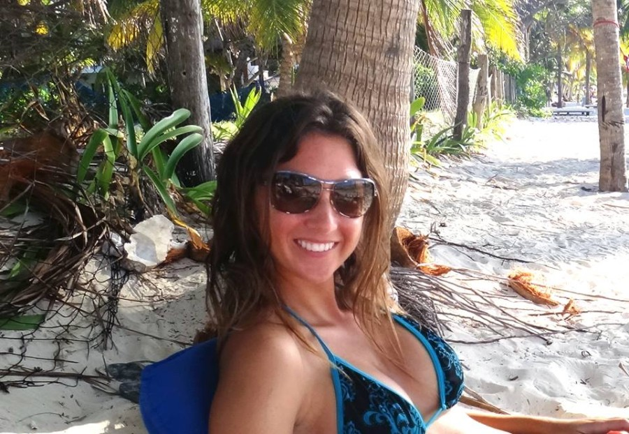 Jessica on beach