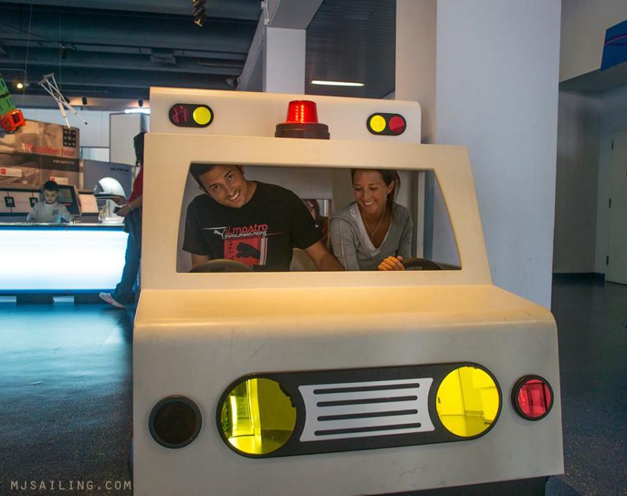 Matt & Jessica in ambulance