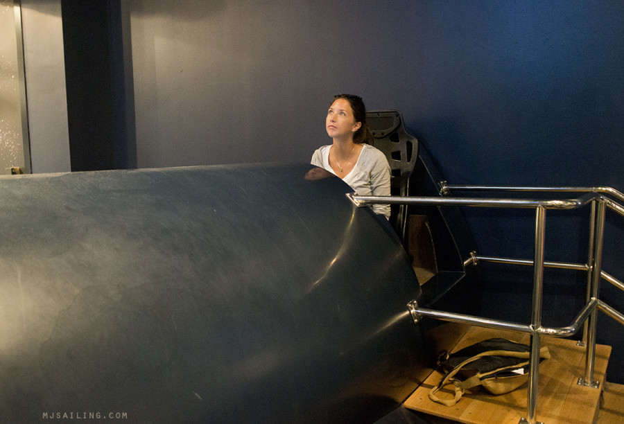 Jessica with flight simulator