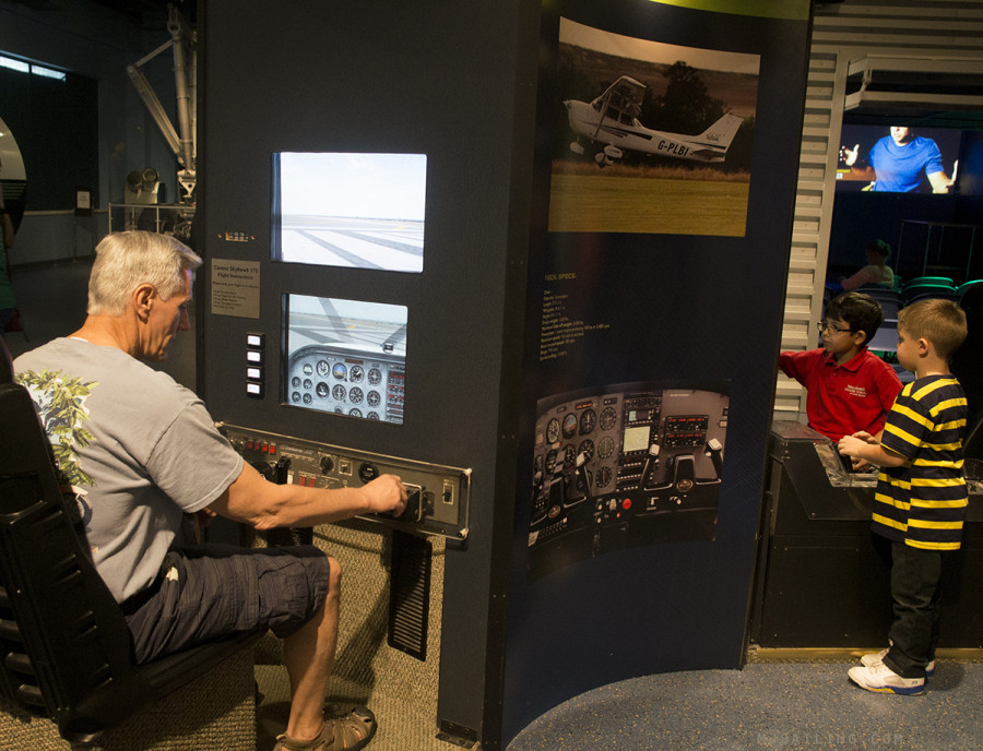Jack with flight simulator