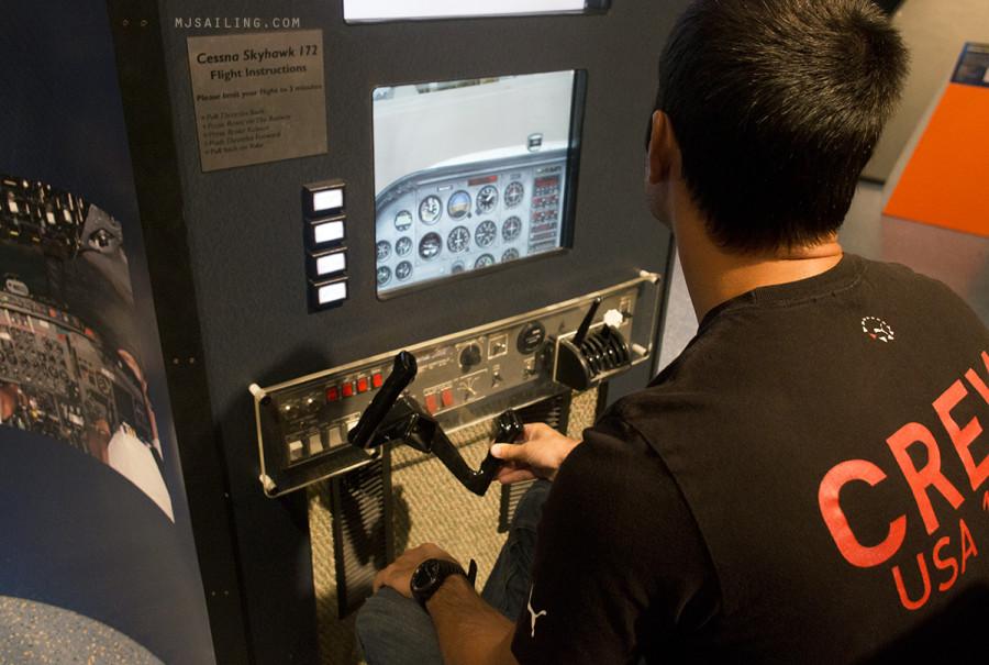 Matt at flight simulator 2