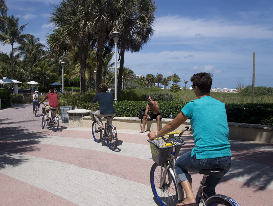bicycling in south beach
