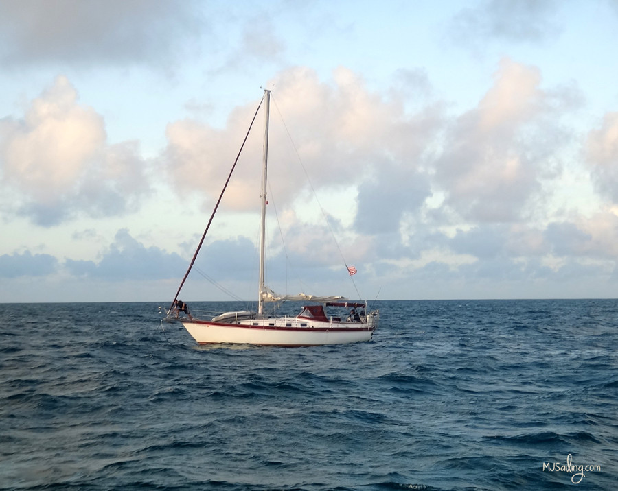 Laho anchored at sunrise