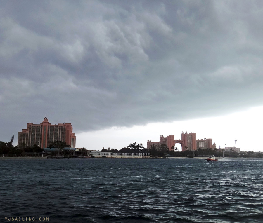 storm clouds over Atlantis