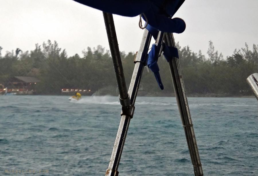 wave runner in the rain