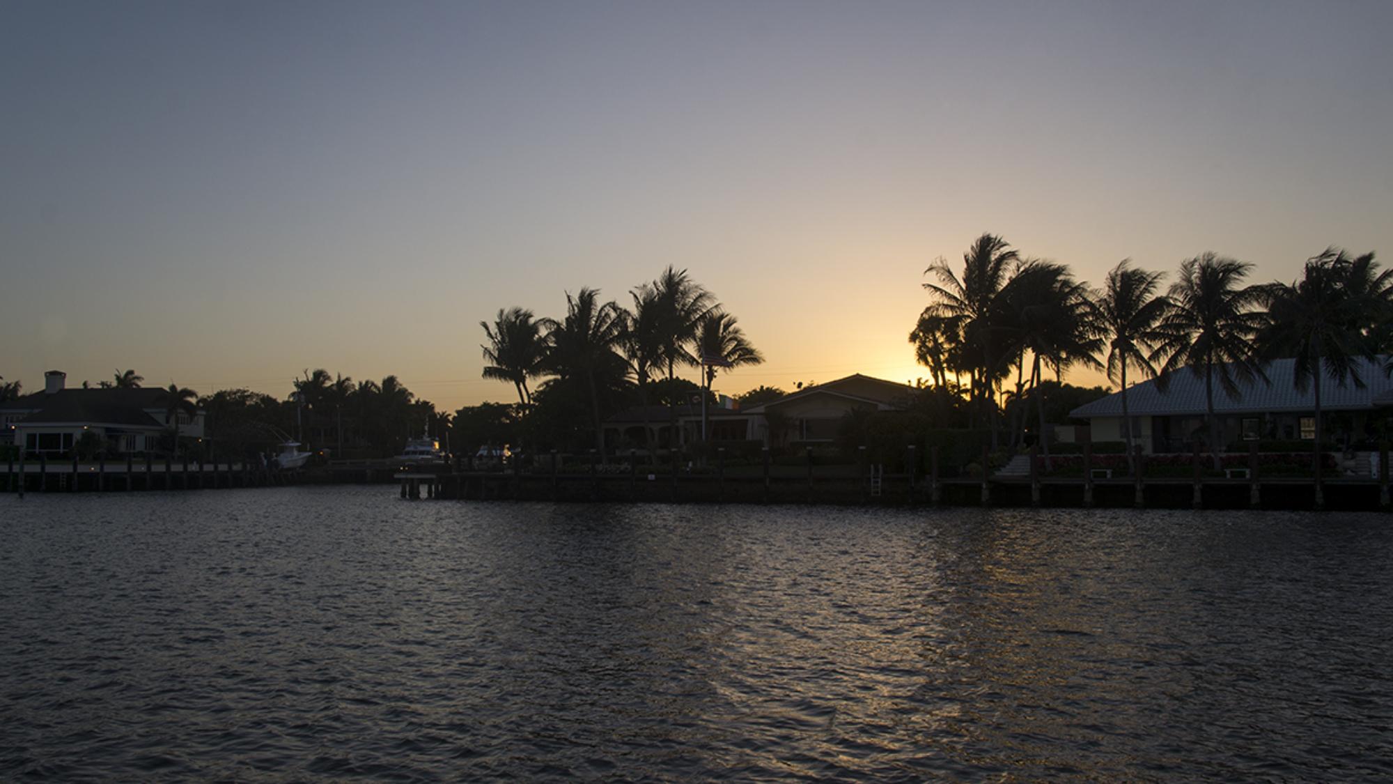 sunset on Lake Sylvia