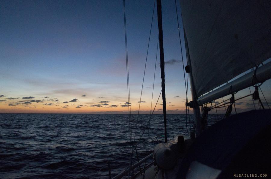 sunrise on the Gulf Stream