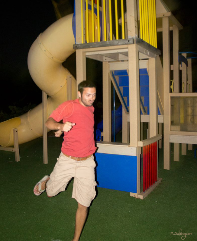 Matt on playground