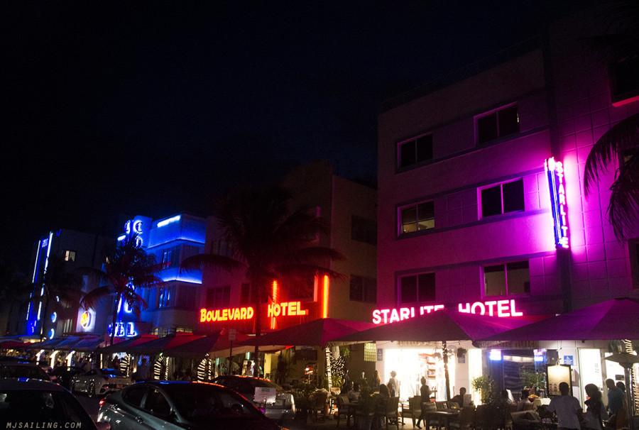 South Beach at night - Starlite Hotel