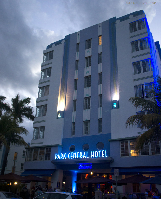 South Beach at Night - Park Central Hotel