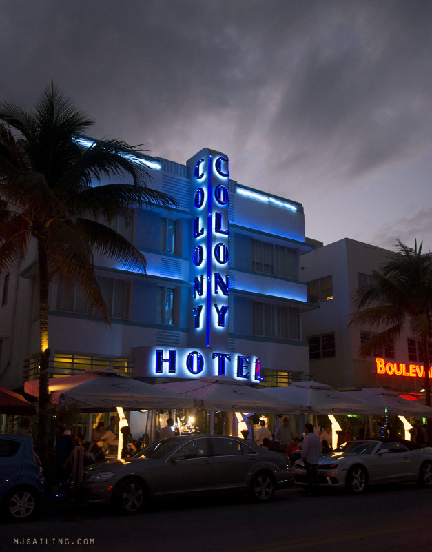 South Beach at Night - Colony Hotel