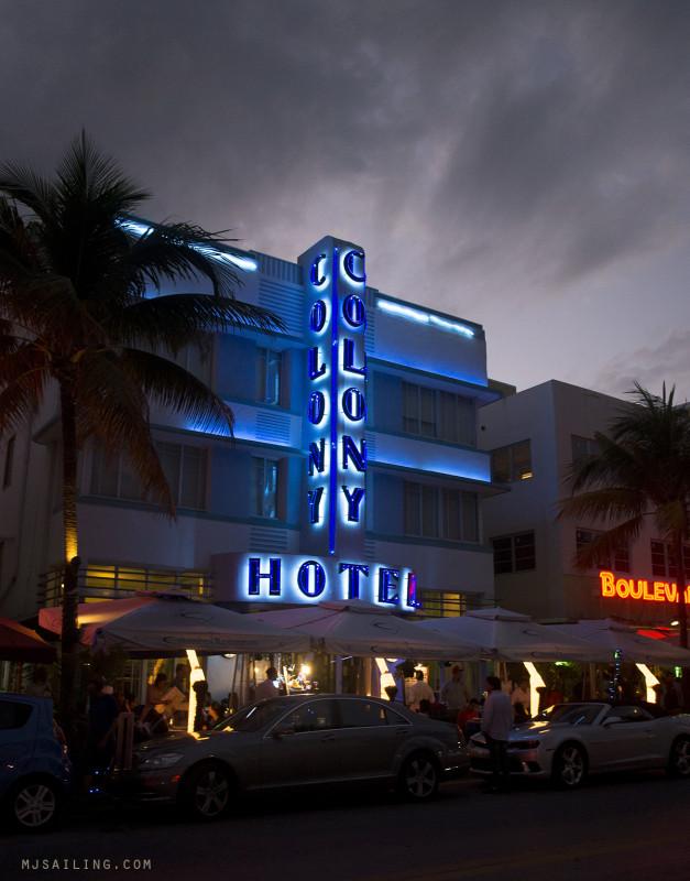 South Beach at Night - Colony Hotel