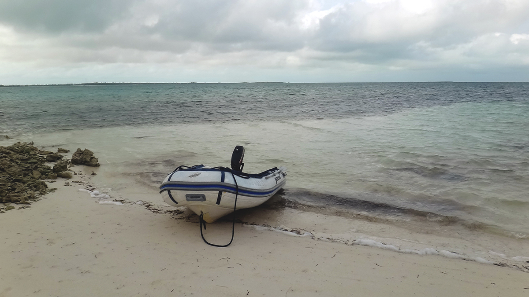 dinghy on shore
