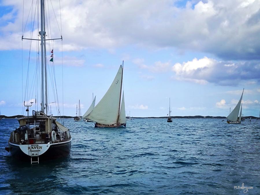 boat's racing through Kidd's Cove