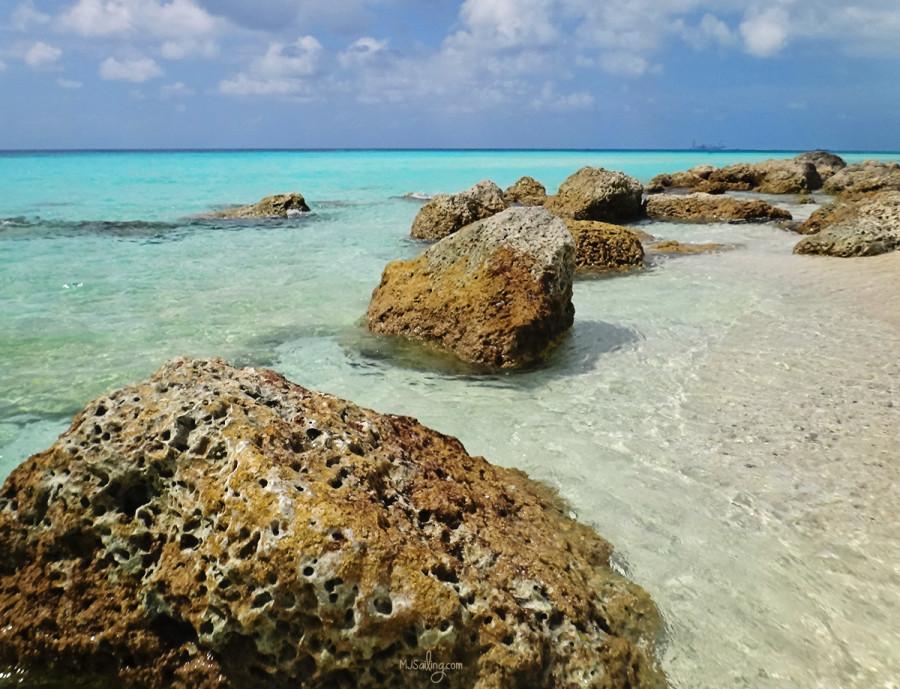 rocks on Radio Beach, North Bimini, Bahamas