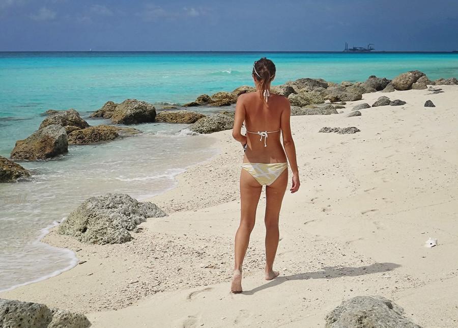 Jessica on Radio Beach, North Bimini, Bahamas