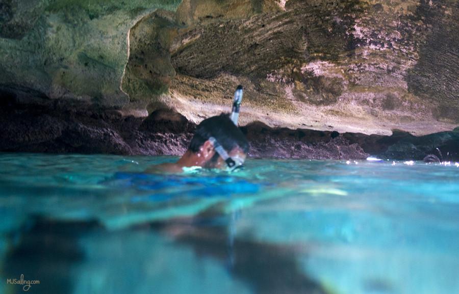 Matt inside Thunderball Grotto