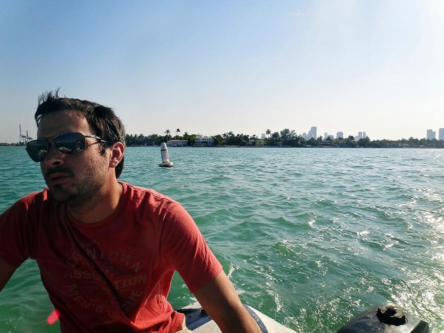 Matt driving dinghy