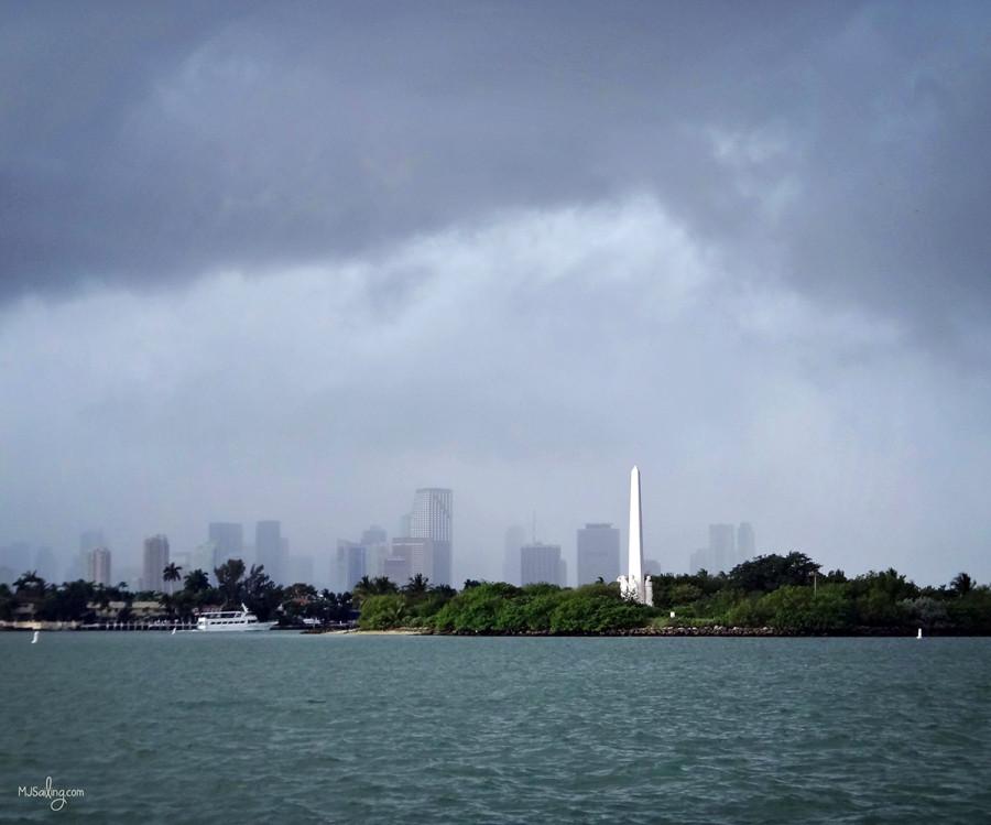 rain over Miami