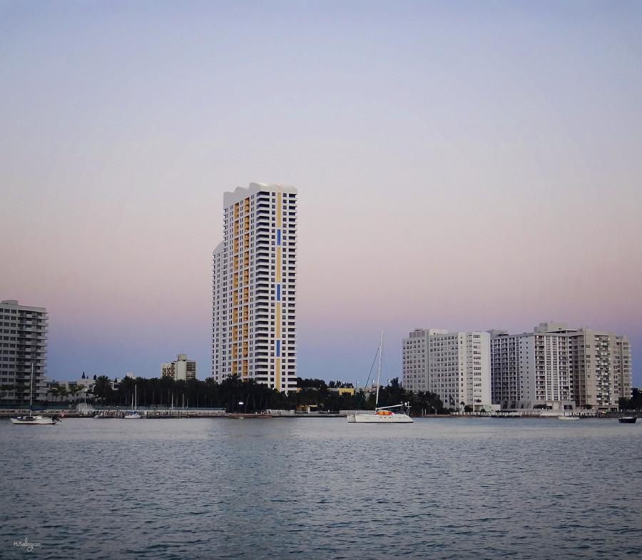 sunset over Miami Beach