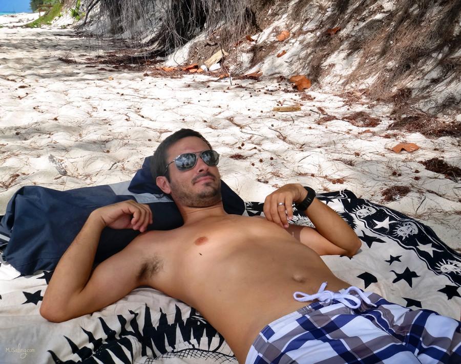 sarong as beach towel
