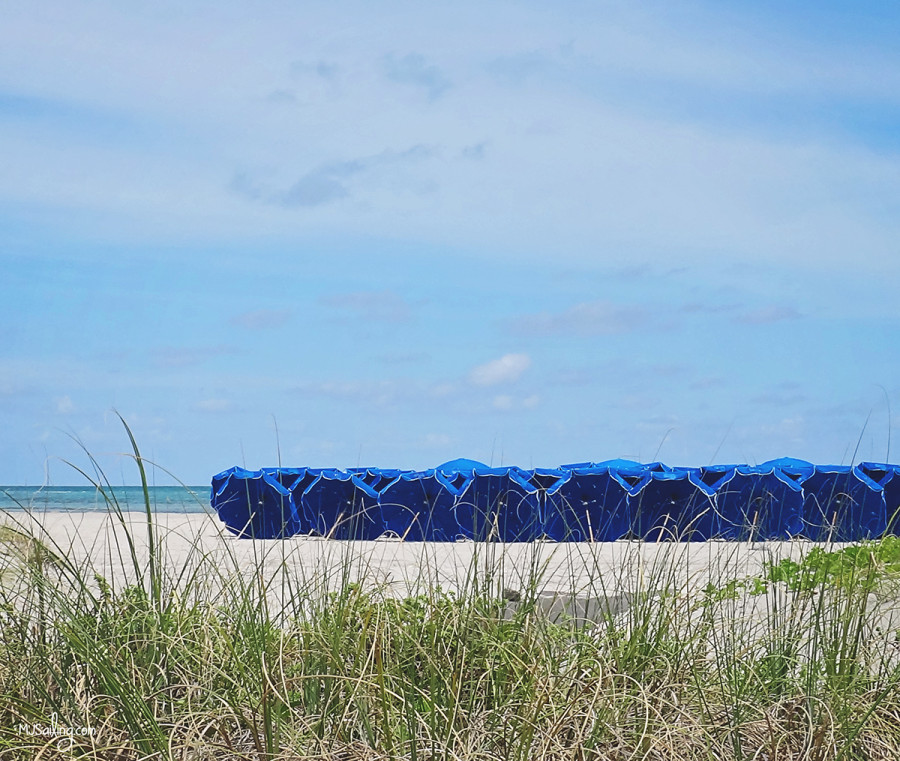 beach umbrellas at Crandon Park