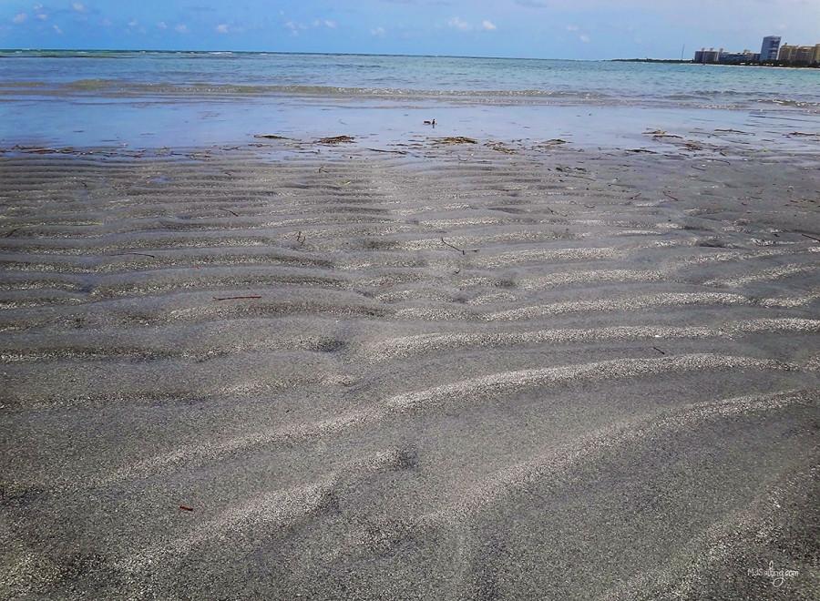 low tide Crandon Park