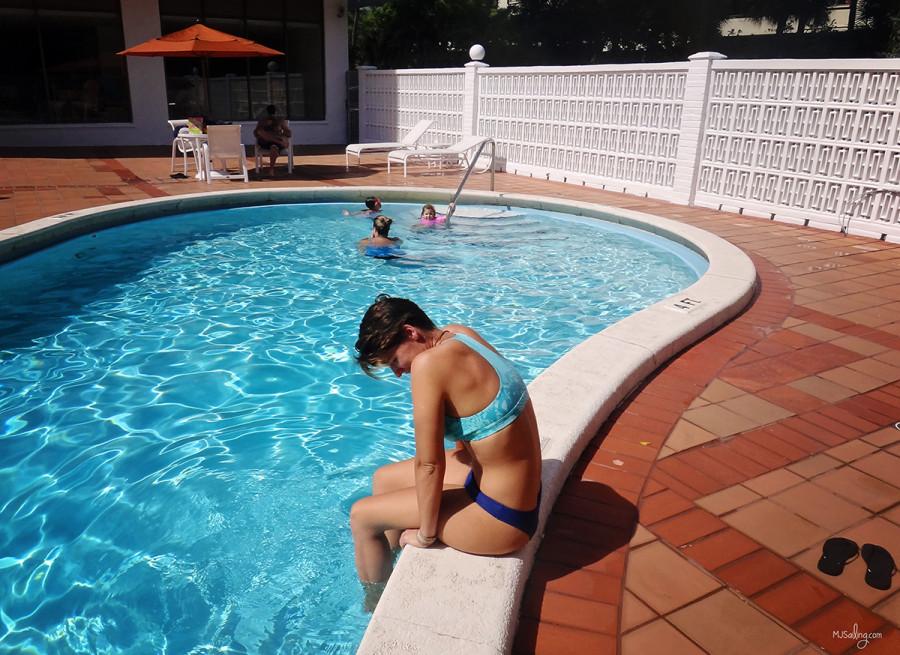 Ana Bianca at pool