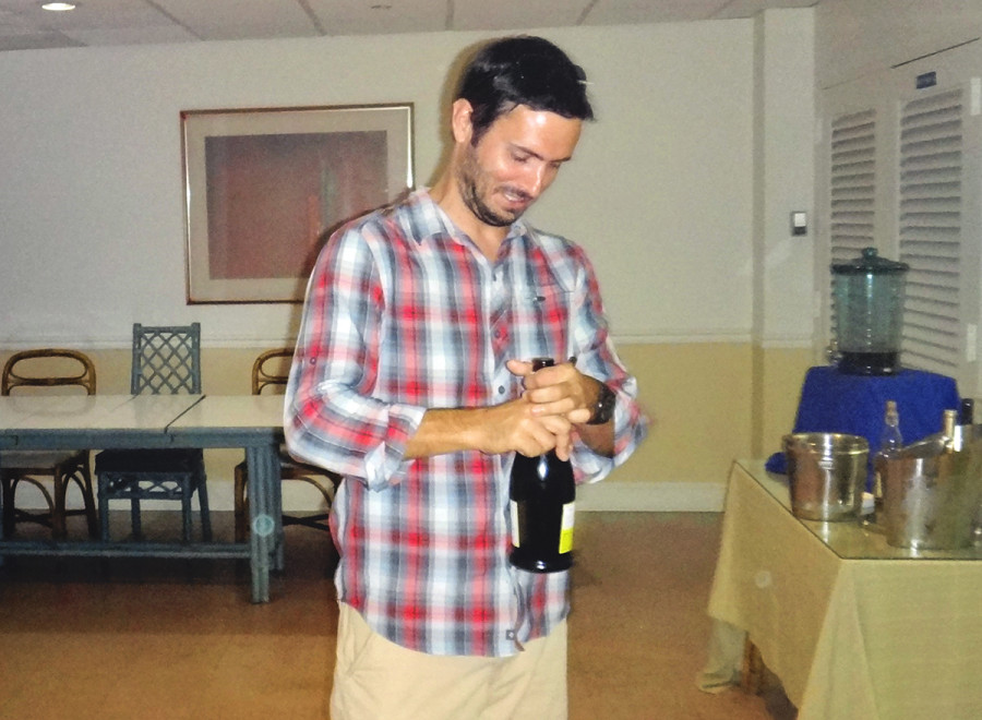 Matt with champagne