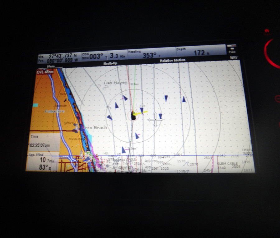 AIS traffic in Gulf Stream