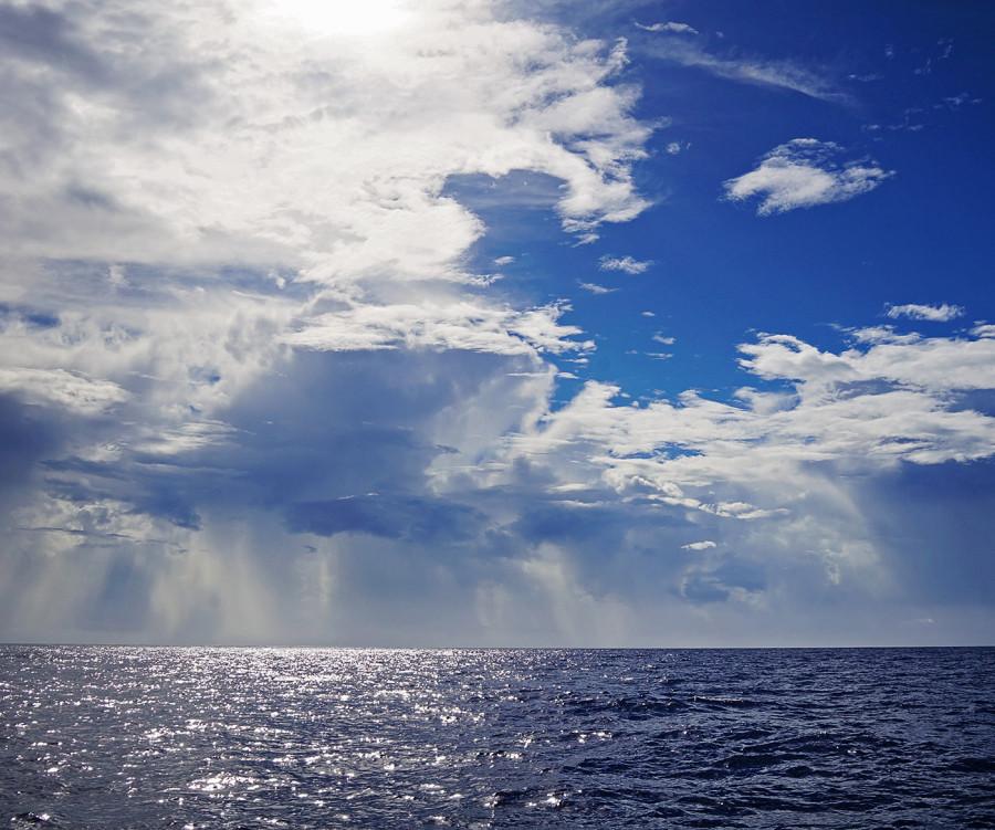 sun & clouds on Atlantic