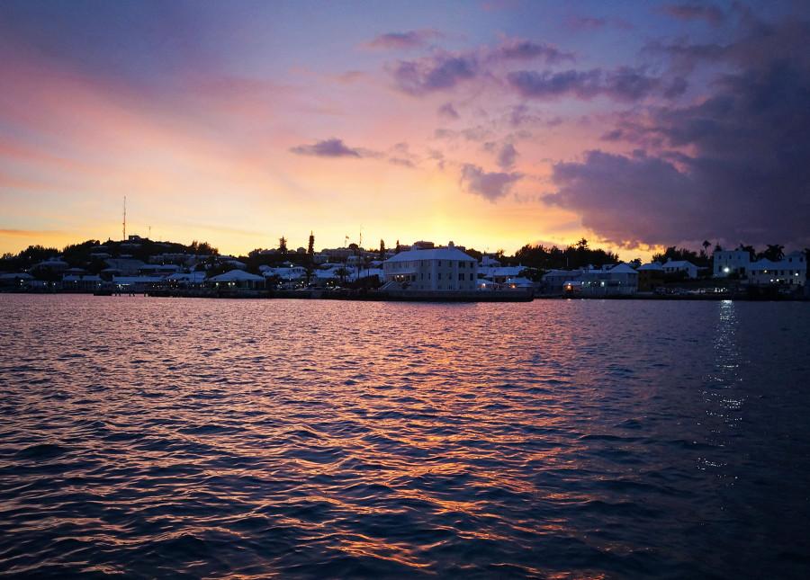 sunset St. George's Harbor, Bermuda