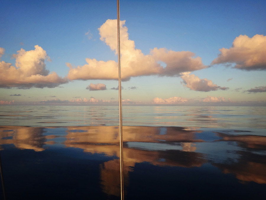 glass waters in the middle of the Atlantic