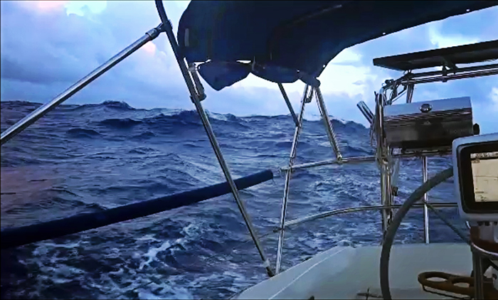 rough weather on the Atlantic