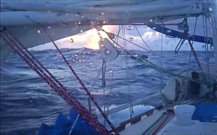 stormy sunrise on the Atlantic