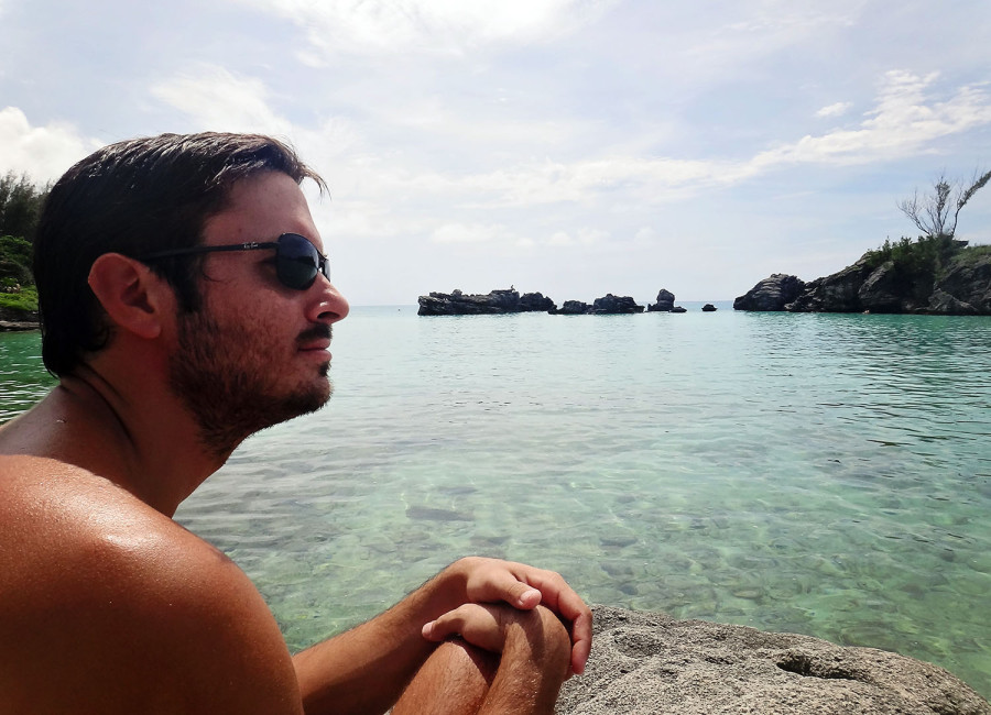 Matt at Tobacco Bay, Bermuda