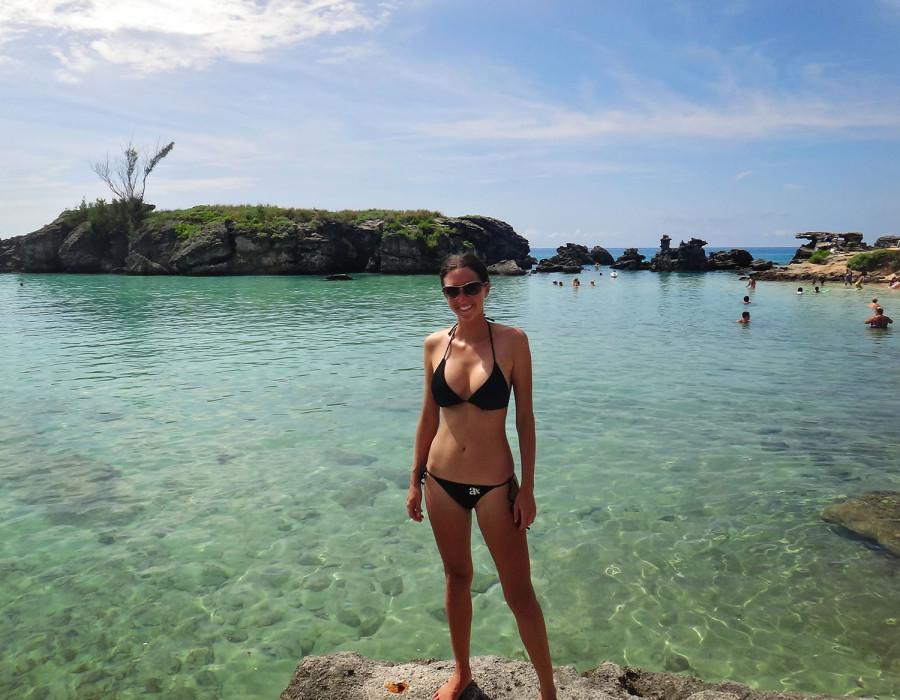 Jessica at Tobacco Bay, Bermuda