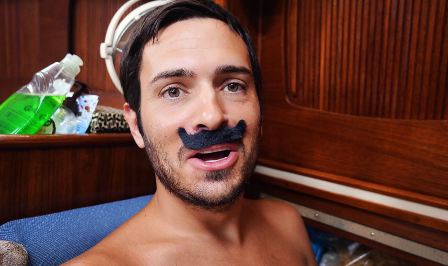 Matt with fake mustache