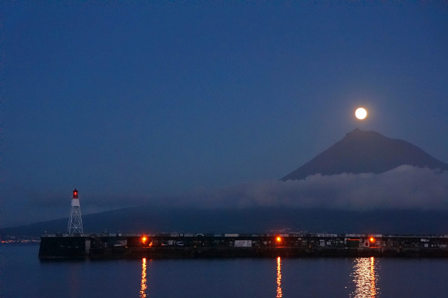 full moon over Pico, Azores