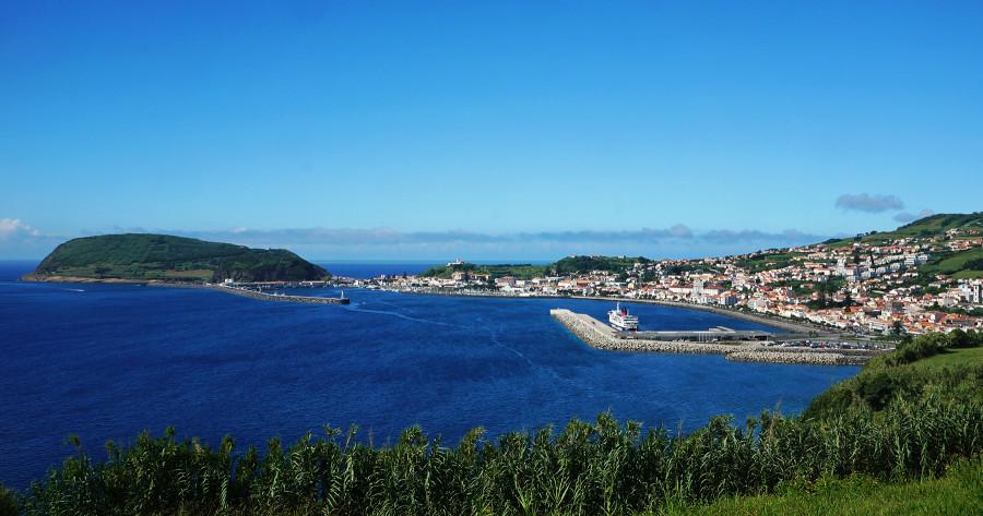 overlooking Horta, Azores