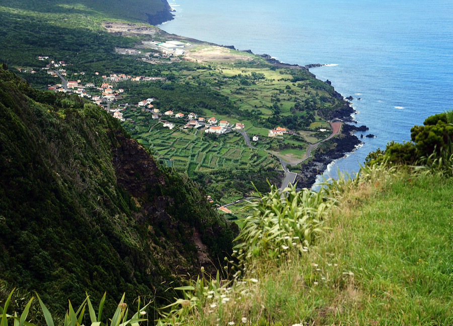 seaside town in Faial, Azores