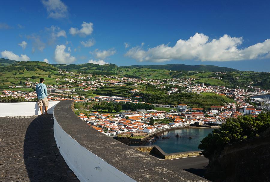 overlooking Porto Pim, Horta, Azores