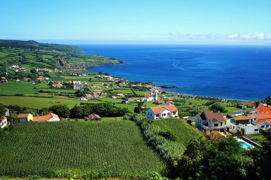 Farmlands north of Horta, Faial, Azores