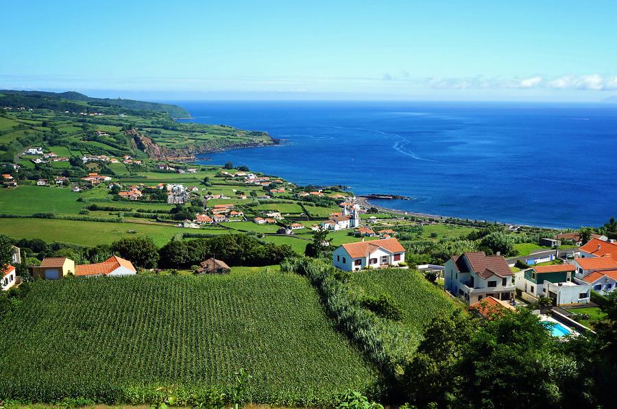 Farmlands north of Horta, Faial, Azores