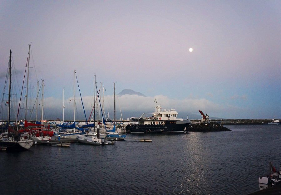 Pico, Azores, at sunset