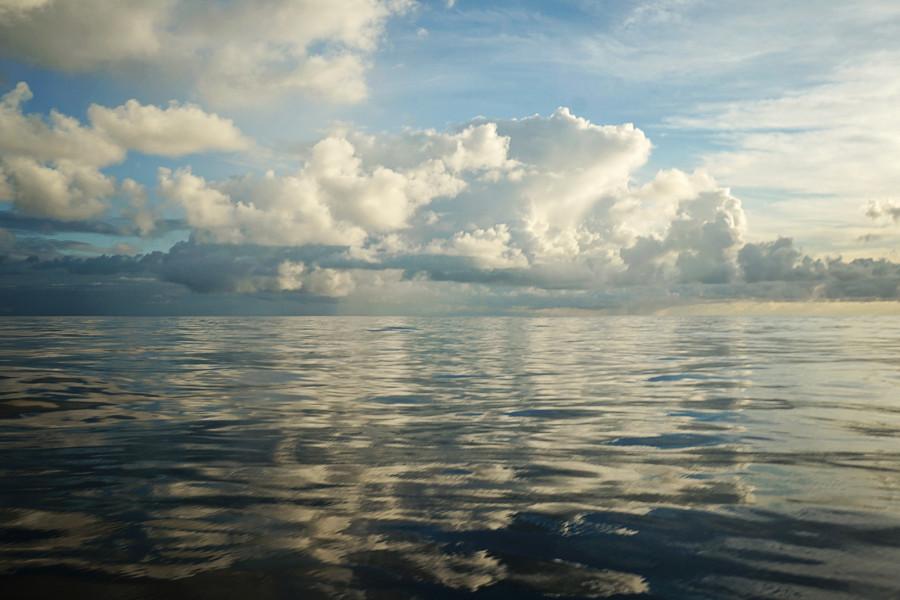 calm water on Atlantic