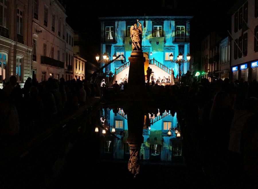 statue in main square, Ponta Delgada, Sao Miguel, Azores