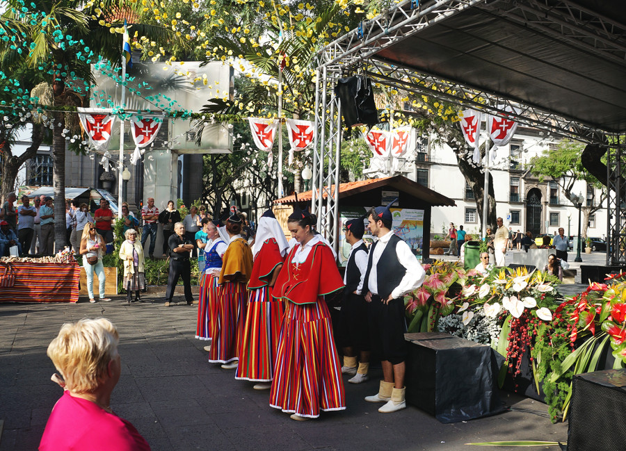 traditional celebration in Funchal, Madeira
