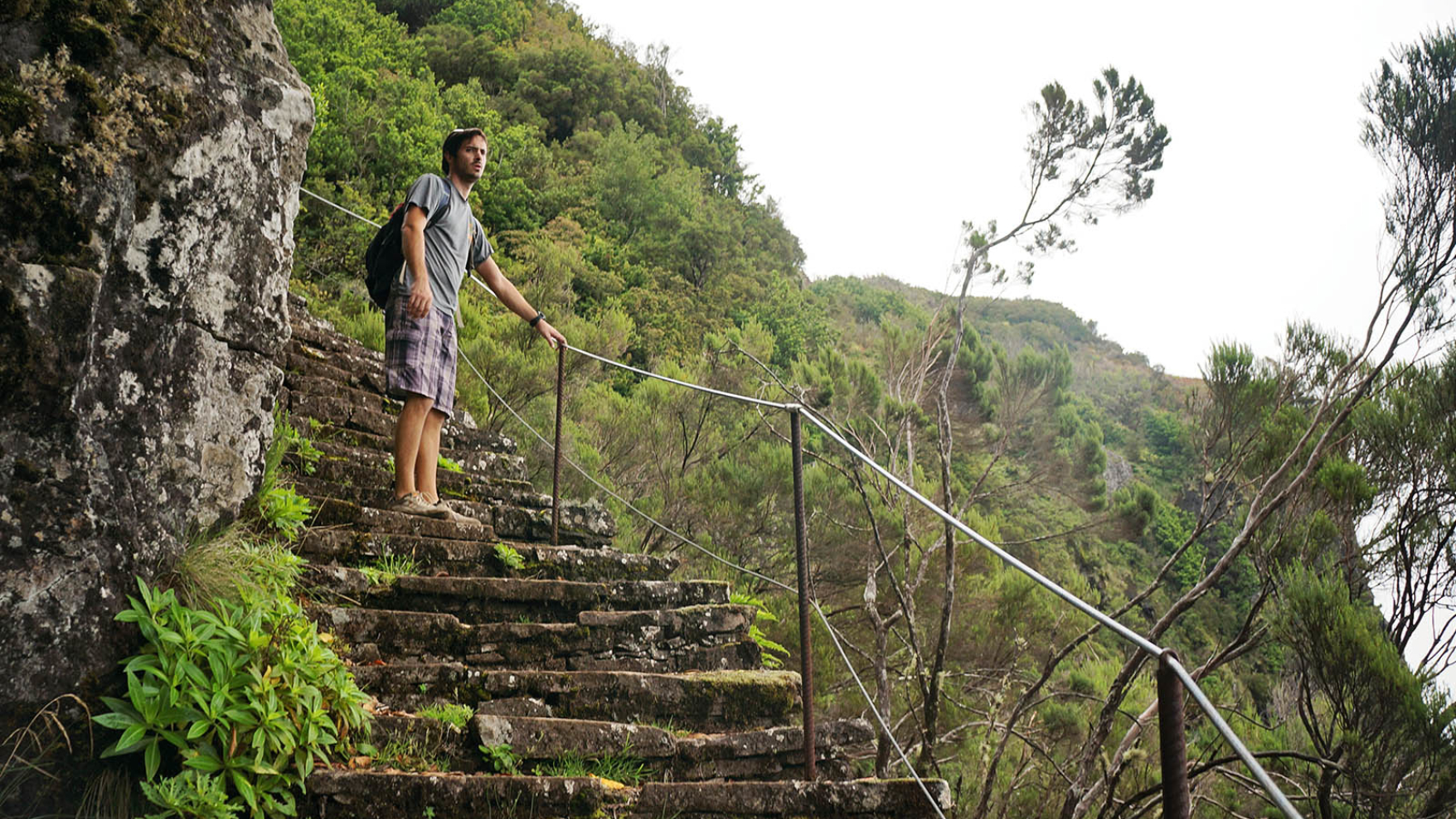 stairs hiking Pico Ruivo