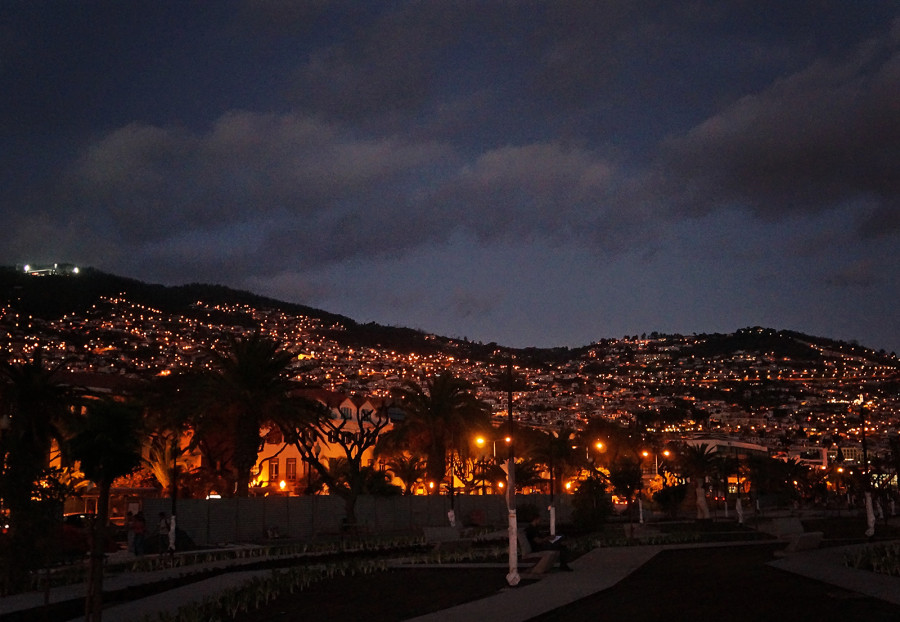 Funchal, Madeira, at night